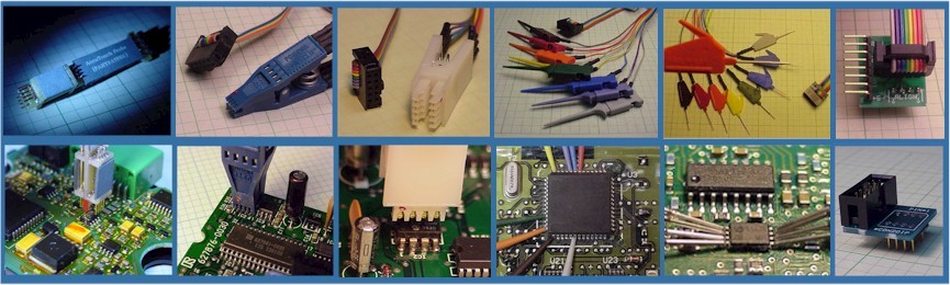 Surface mount chip clip, DIP clip, Probes and Connection